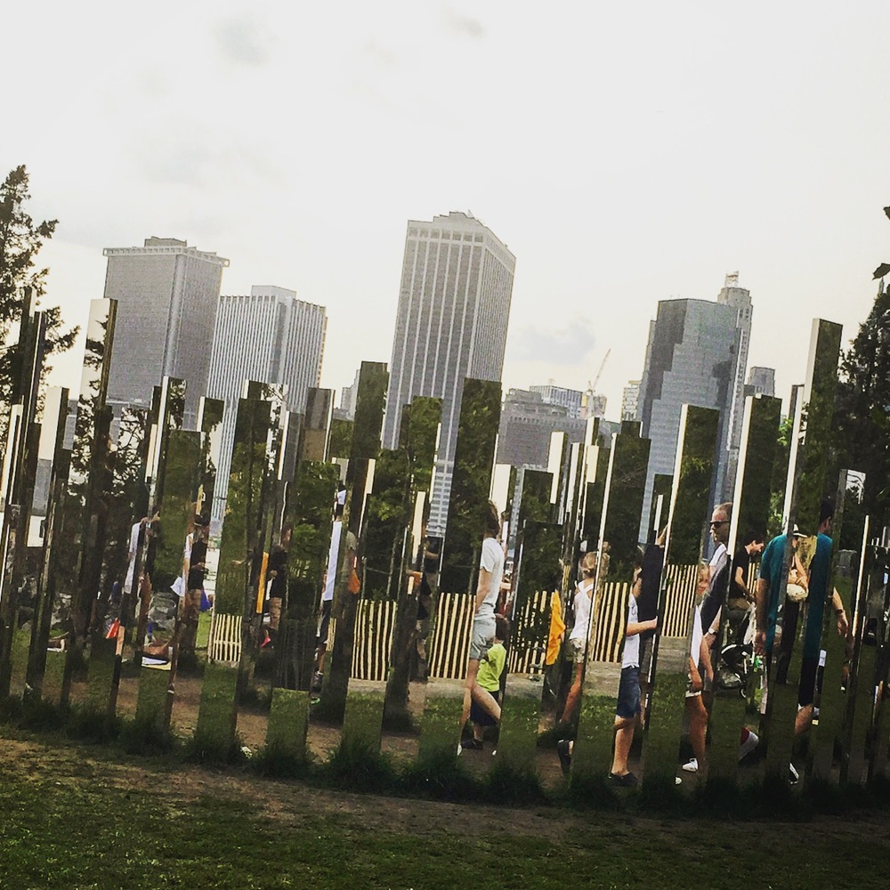 Brooklyn Bridge Park- Mirror Labyrinth. One of several art installations in this gorgeous waterfront park. @edwingallen