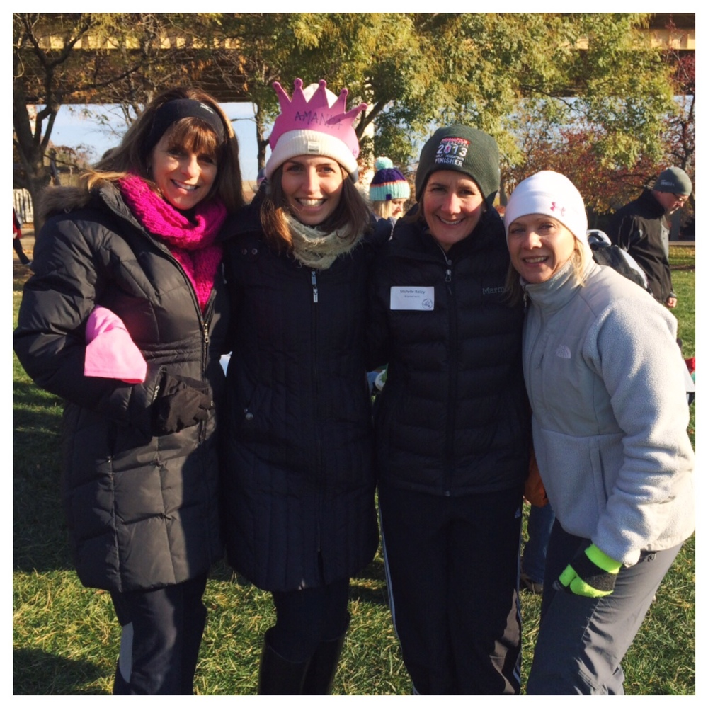 A few fellow runners and I volunteering at the fall GOTR 5k. It was a frigid, but fun morning making crowns!