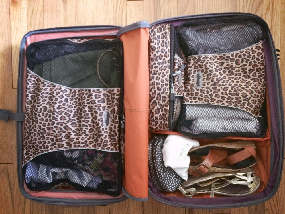 My ridiculous leopard print packing cubes made packing my suitcase a total breeze!
