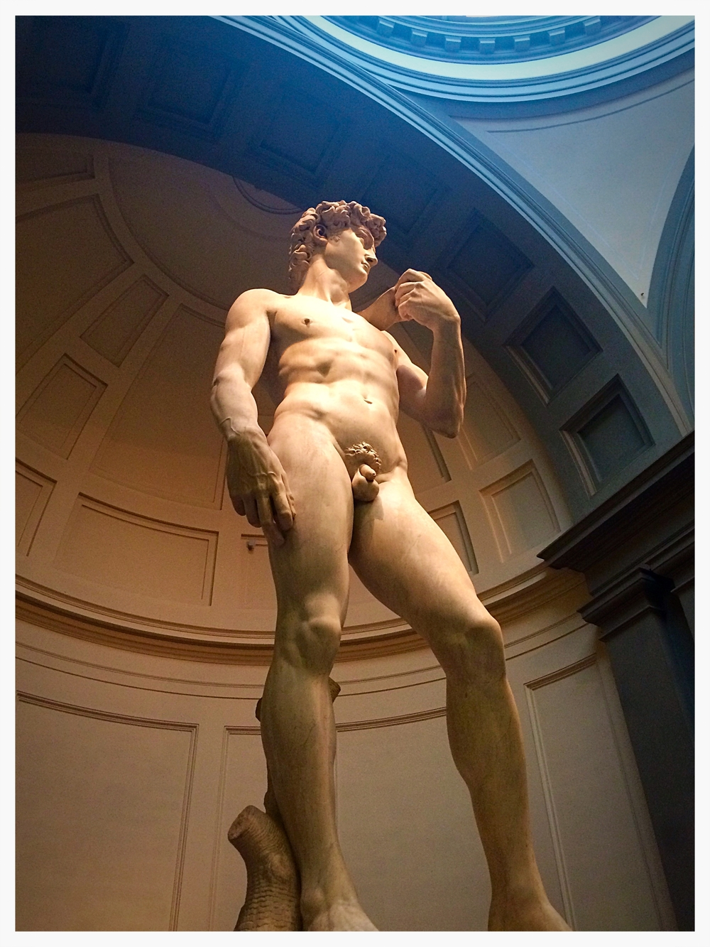 Michelangelo's David looks good from every angle in Florence!