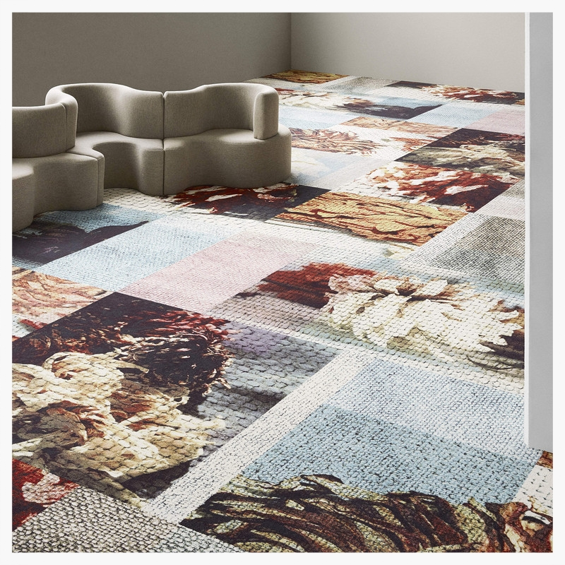 One of my favorite things about my job is discovering new gorgeous materials. This week Ege Carpets visited our offices, showing us a new carpet line inspired by fashion... just my type of product!