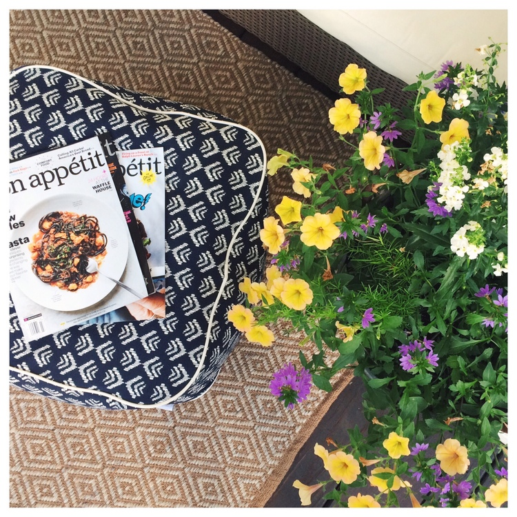 My back-porch got a serious makeover this summer, which only meant more space for entertaining! Here are a few ways we made the space over to use it for lounging & eating all through the beautiful warm months!
