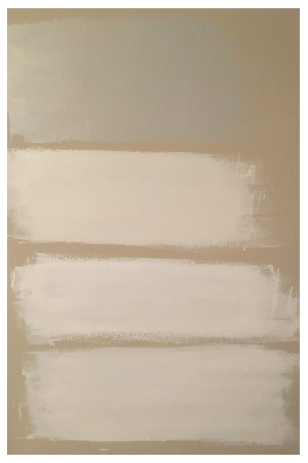 The four whites I am looking at for the master bedroom. From top to bottom - Benjamin Moore Sleigh Bells, White Dove, Decorators White & Super White.They are definitely white, but I think it will be super classic! I think I am going to go with the 3rd one down... thoughts?