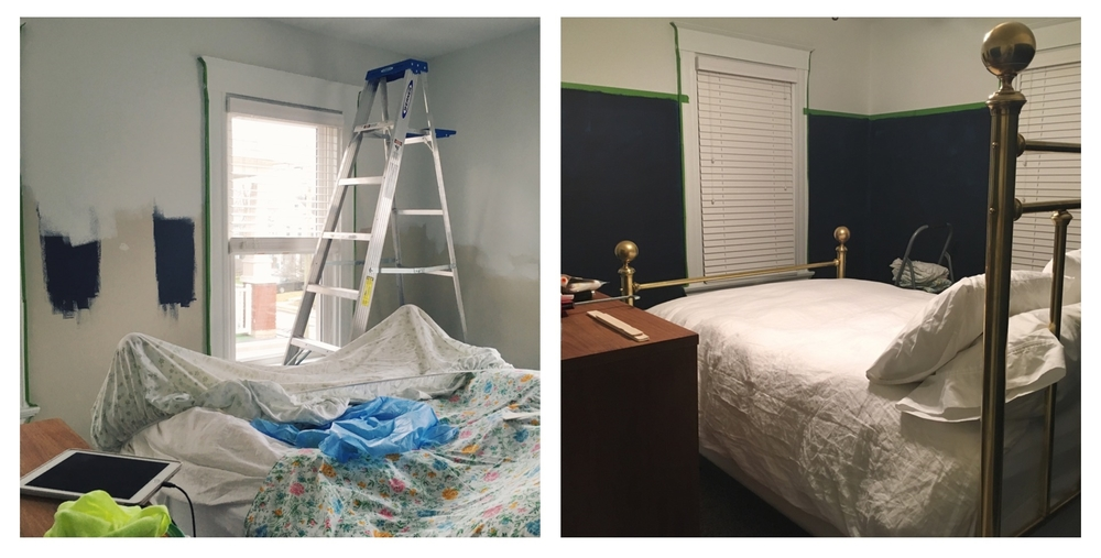 Progress... not loving the bright blue.