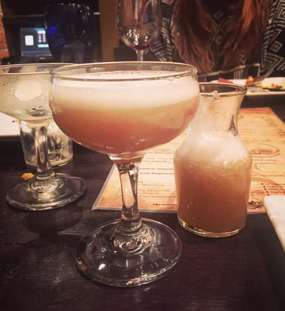 Frothy whiskey goodness at Sidebar. Thanks Angela for sharing up this pretty picture and great recipe!