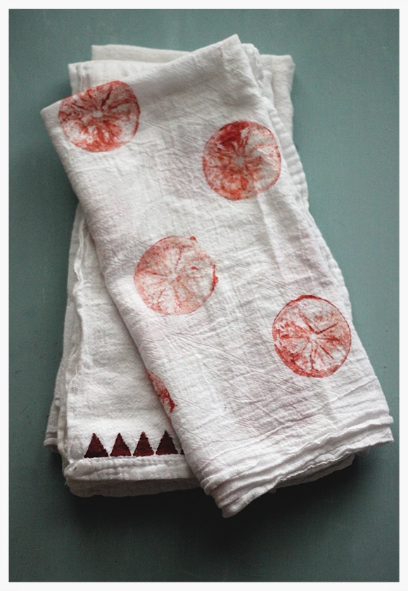 It really is impossible to have too many tea towels, and there is no way that your mom wouldn't love home made ones. These hand printed towels are simple, beautiful and endless amount options.