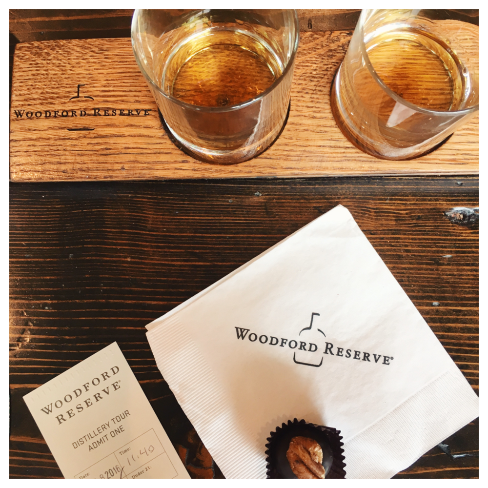 A little bit of our Woodford Reserve tasting...