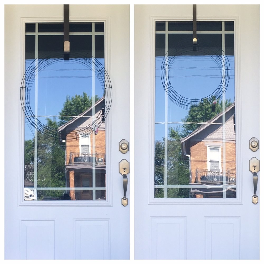 "Left Image: 24"" Diameter Wire Wreath Frame Right Image: 18"" Diameter Wire Wreath Frame *Winner*"
