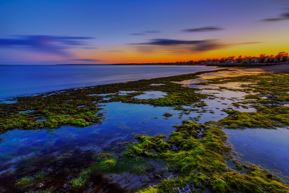 A lovely evening at Gulf Beach in Milford, Connecticut, USA.