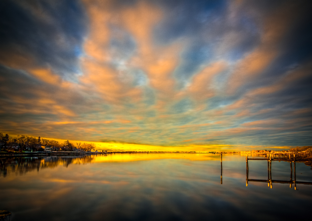 Sunrise in Milford, Connecticut, USA
