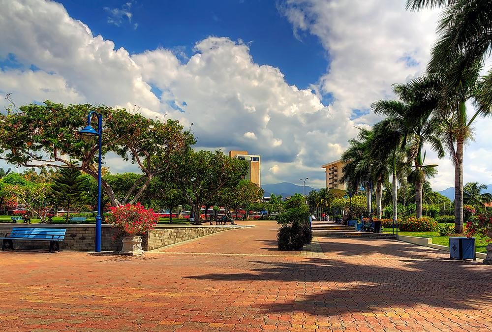 Emancipation Park in Kingston, Jamaica.