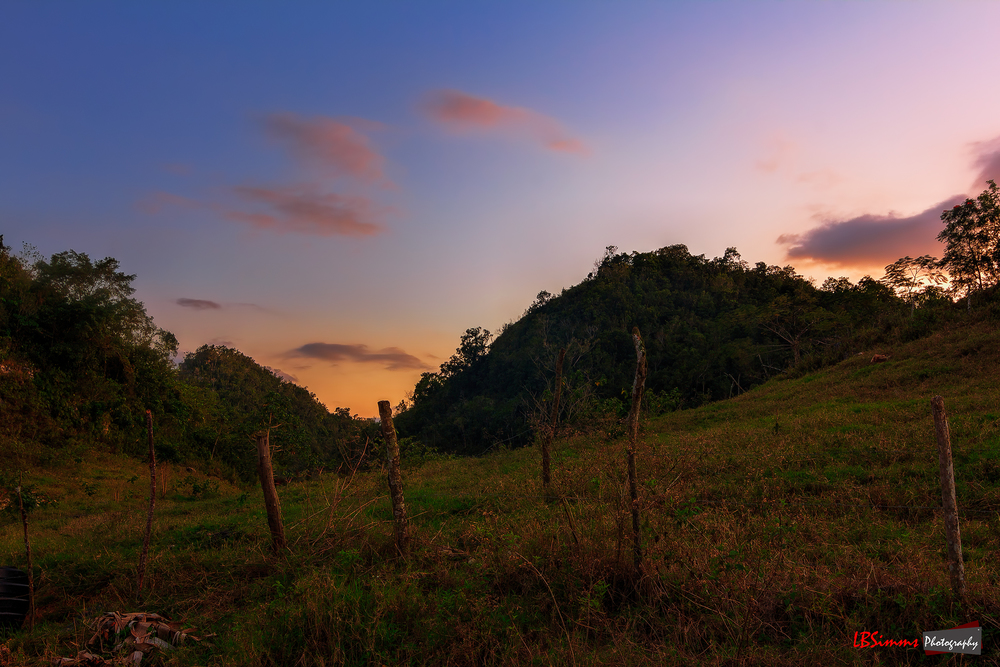 Sunset in the hills of Linton Park, St Ann, Jamaica