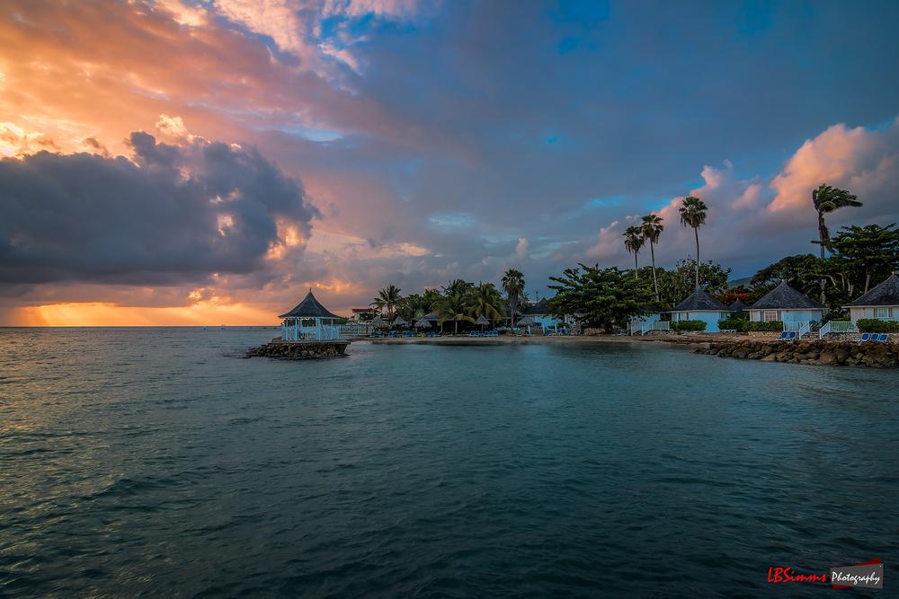 Sunrise in Runaway Bay, St Ann, Jamaica.