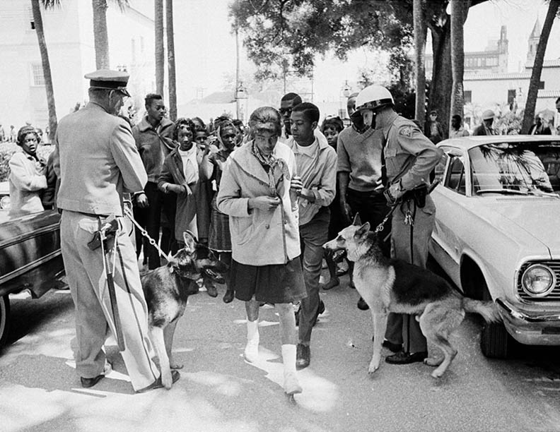 St. Augustine residents received the harsh treatment by local law enforcement, who many believe had ties with the KKK, yet the protestors continued to fill the streets to protest for integration and equality.