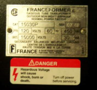 Neon Sign Transformer Specs