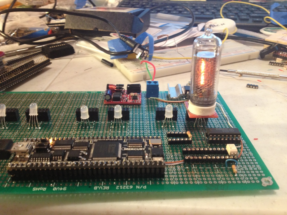 Testing with one Nixie tube .