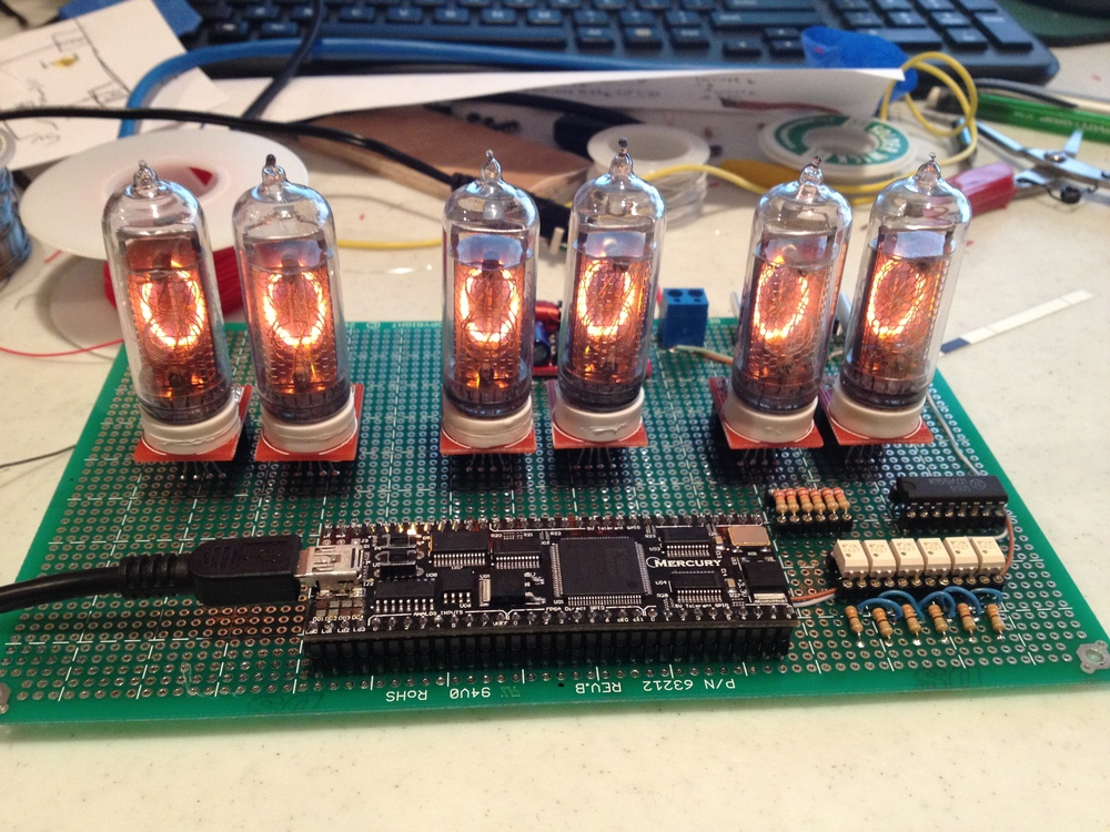 All six tubes wired up!