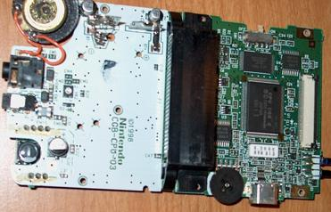 Back of the GBC motherboard