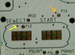 Select/start control pins