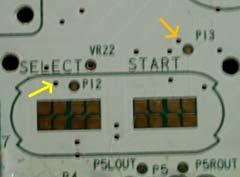 Select/start control pins