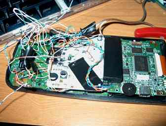 GBC board on top of the TI-83 innards.