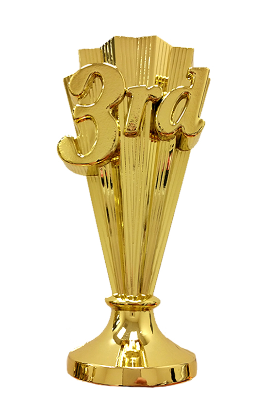 "6124G    (  +$1.00 per Trophy ;   only available for one size: 13"" riser trophies)"