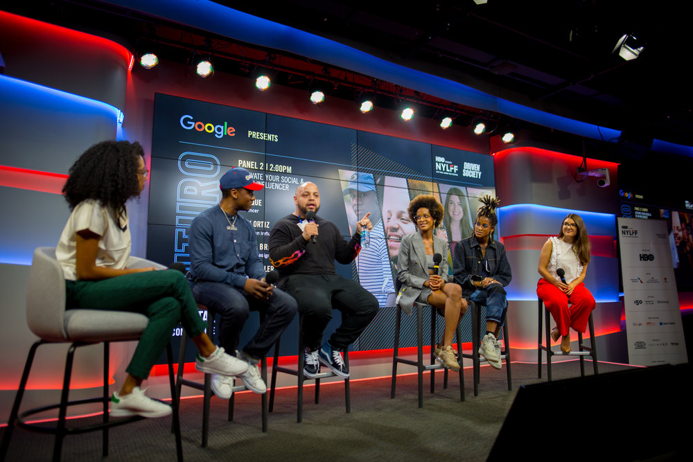 """Activate Your Social and Be an Influencer"" panel at the Google Digital Futuro Conference."