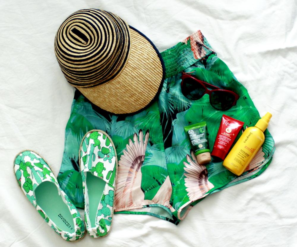 wakacyjna walizka hawaje miami espadryle h&m