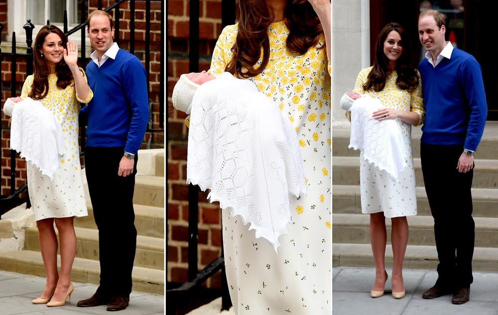 Kate Middleton sukienka kwiatki Jenny Packham