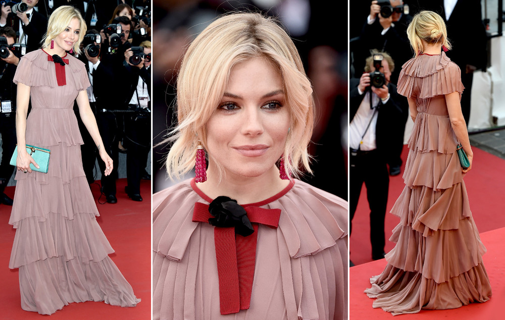 sienna miller cannes gucci dress