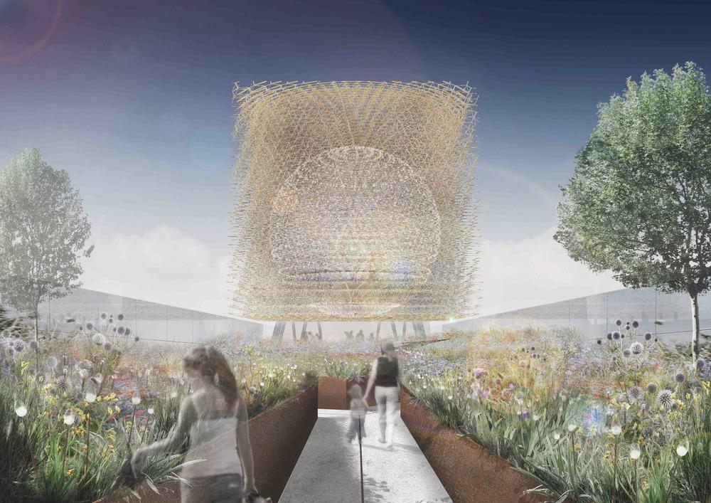 Wizualizacja angielskiego pawilonu na Expo 2015 w Mediolanie / Stage One