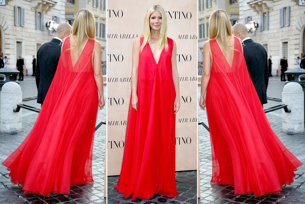 gwyneth paltrow red valentino