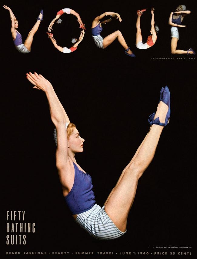 Szorty na okładce Vogue'a - czerwiec 1940