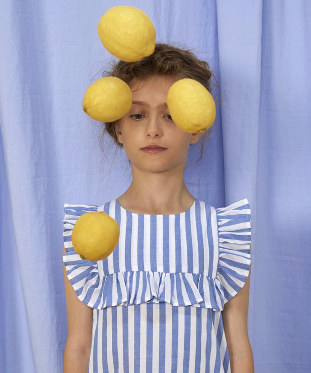 cytryna sukienka w paski