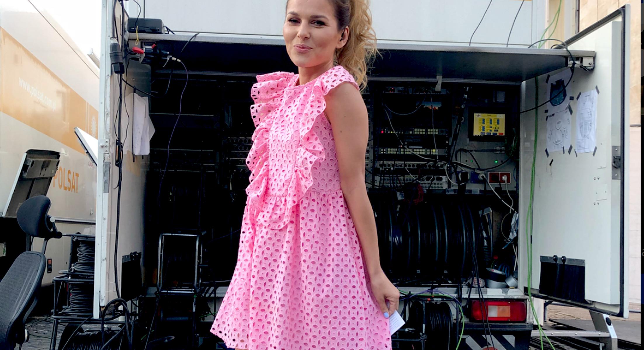 Paulina Sykut Jeżyna w różowej sukience Zara Kids — Ola Nagel