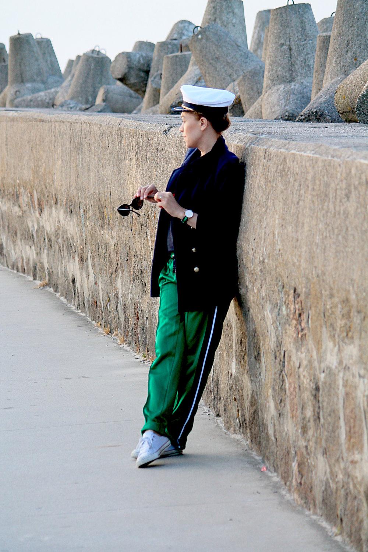 stylizacje inspiracje marynarka i spodnie z lampasami