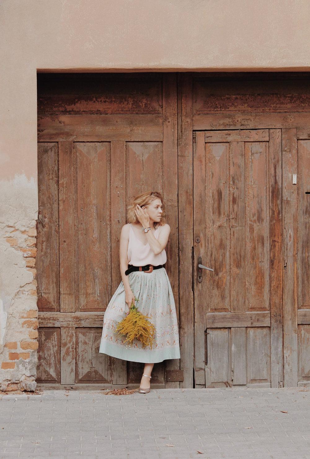 stylizacja spódnica retro
