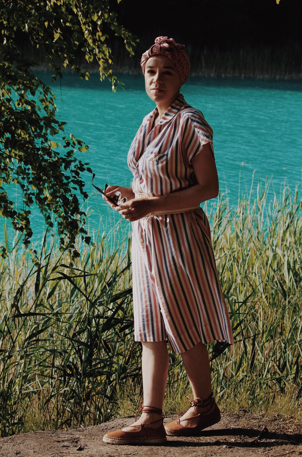 lazurowe jezioro retro style
