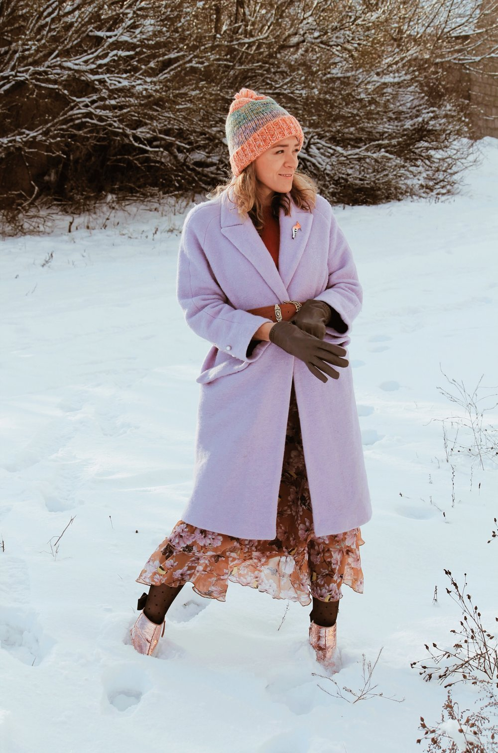 pastelowy płaszcz zima 2019
