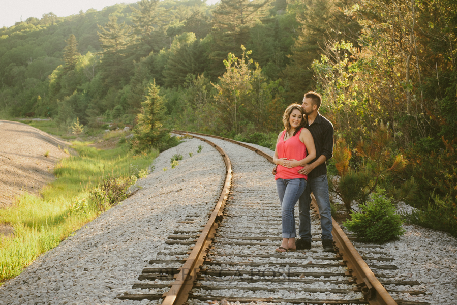 Rail Road Tracks Engagement Picutes
