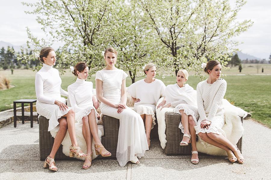 Kelsey Genna bridesmaids bride bespoke designer