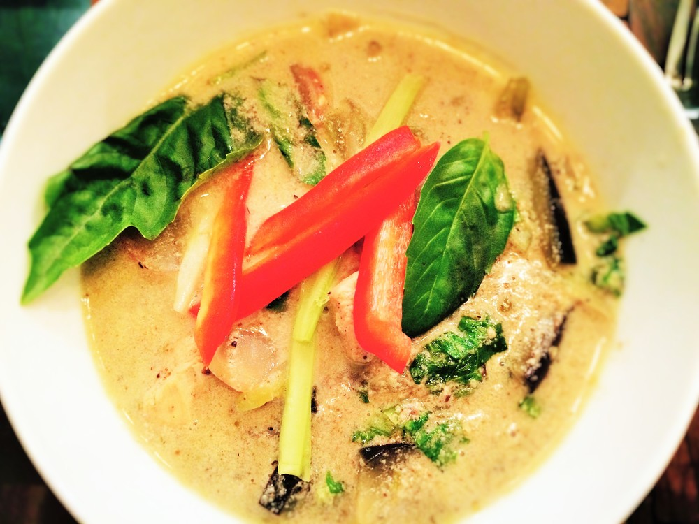 Green Curry Chicken Aubergine