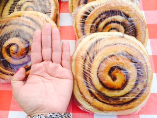Hand Sized Cinnamon Rolls