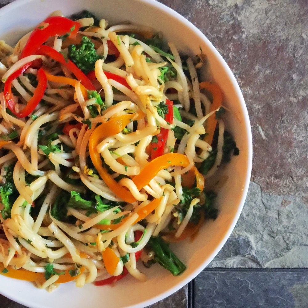 The Finished Product of Udon Stir Fry- YUM!