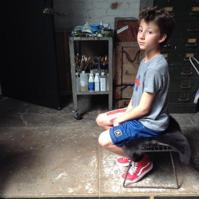 boy waiting his turn