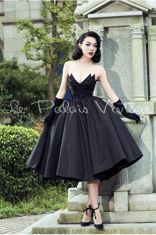le palais vintage retro strapless 1950 ball gown LBD dress — GOOD ...