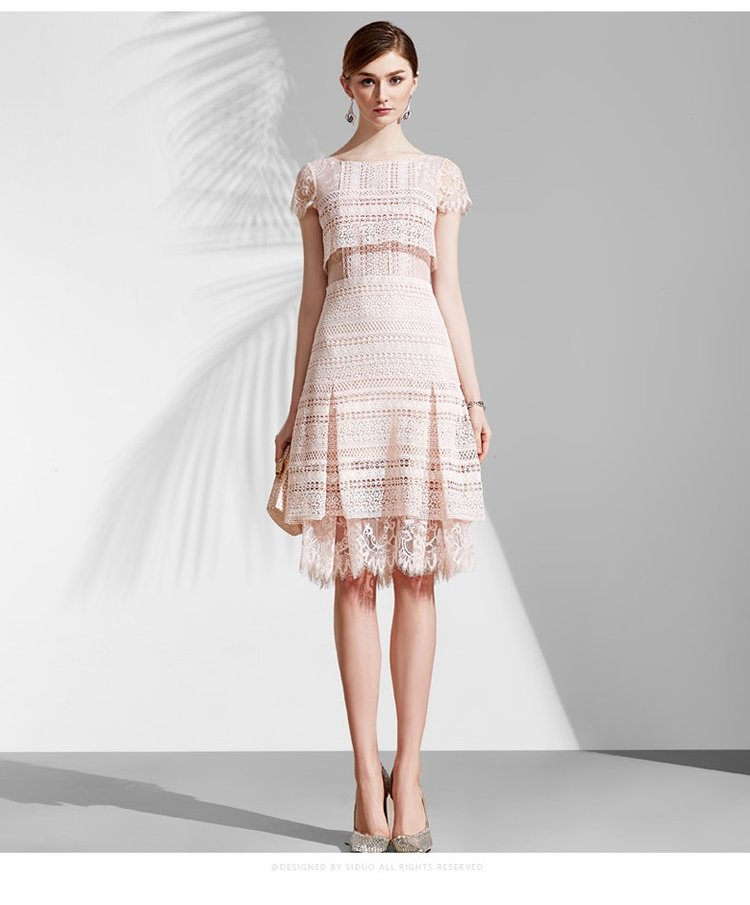 Copy of Pastel pink cocktail lace spring wedding guest dress — GOOD ...