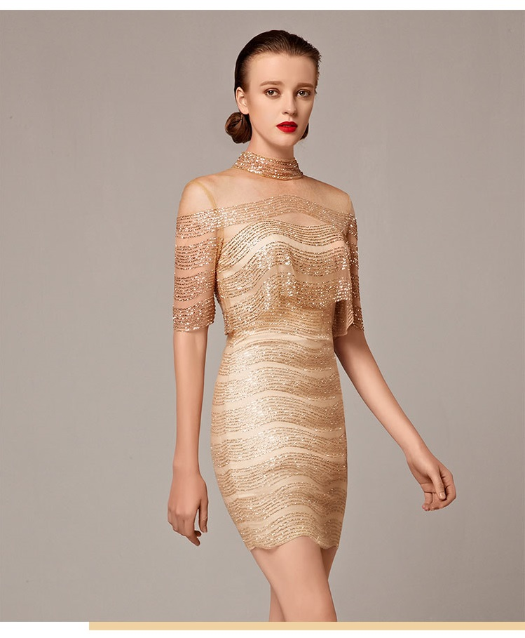 67c0b74c7bd Glittery Shimmery gold short cocktail golden evening dress — GOOD ...