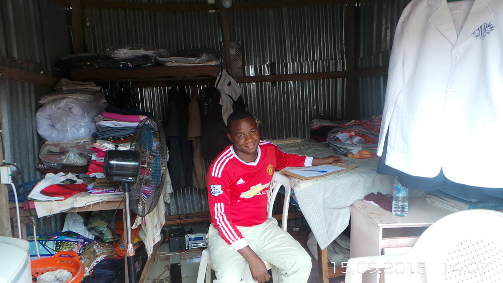 Muazu Abba in his shop