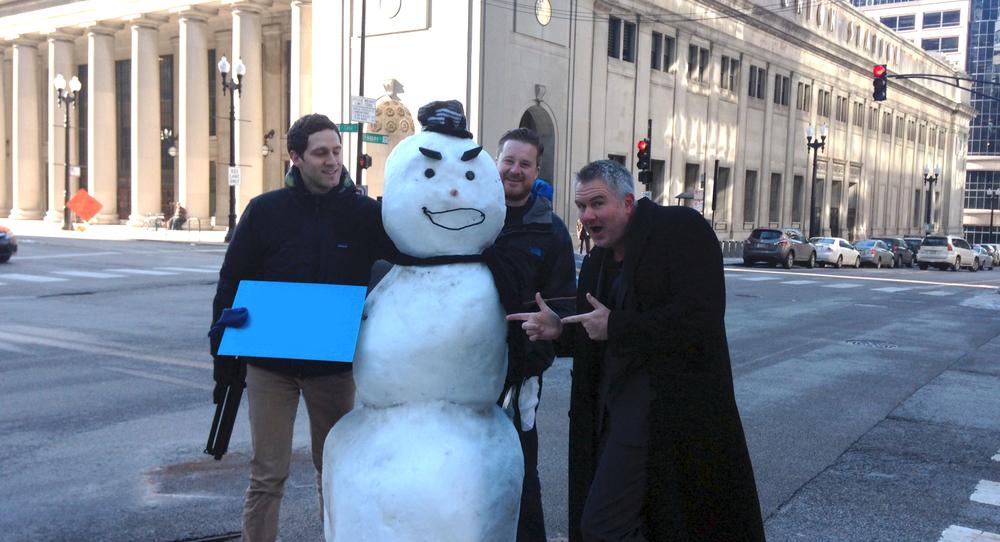 urban snowman